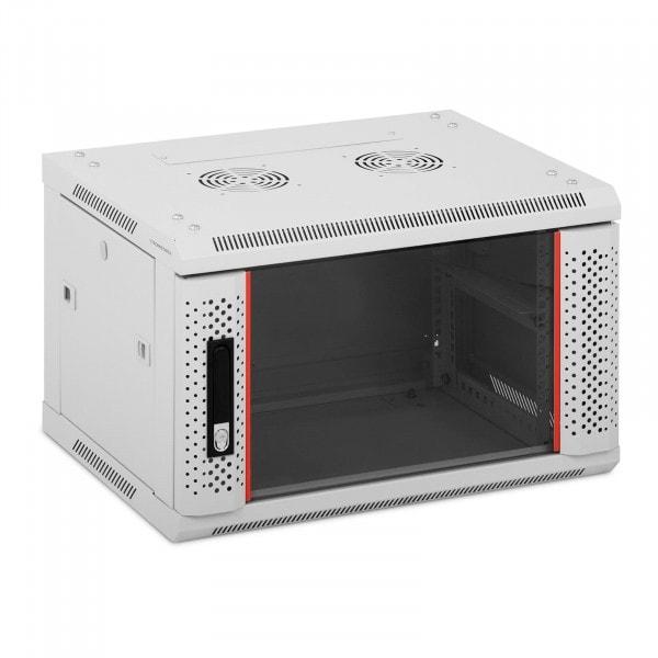 B-Ware Serverschrank - 19 Zoll - 6 HE - abschließbar - bis 60 kg - grau