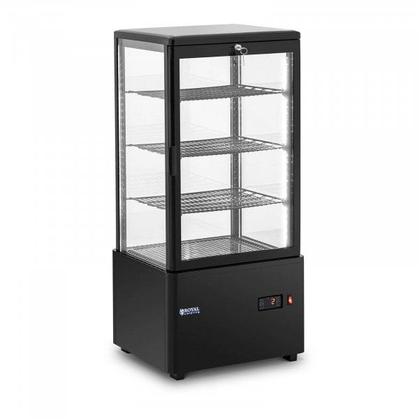 Refrigerated Display Case - 78 L - 4 levels - black - locking