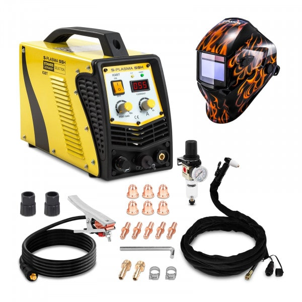 Welding Set Plasma Cutter - 55 A - 230 V + Welding helmet – Firestarter 500 - ADVANCED SERIES