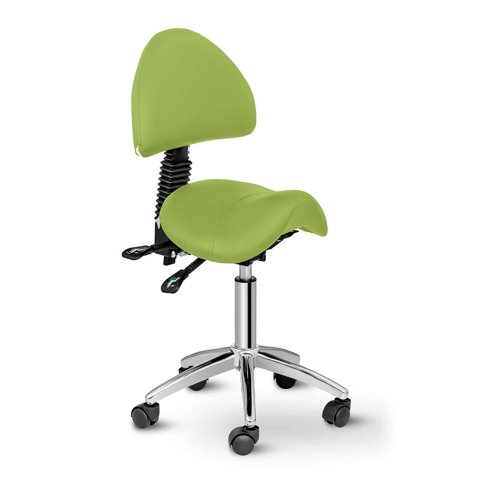 Krzesło siodłowe Berlin - jasnozielone - oparcie