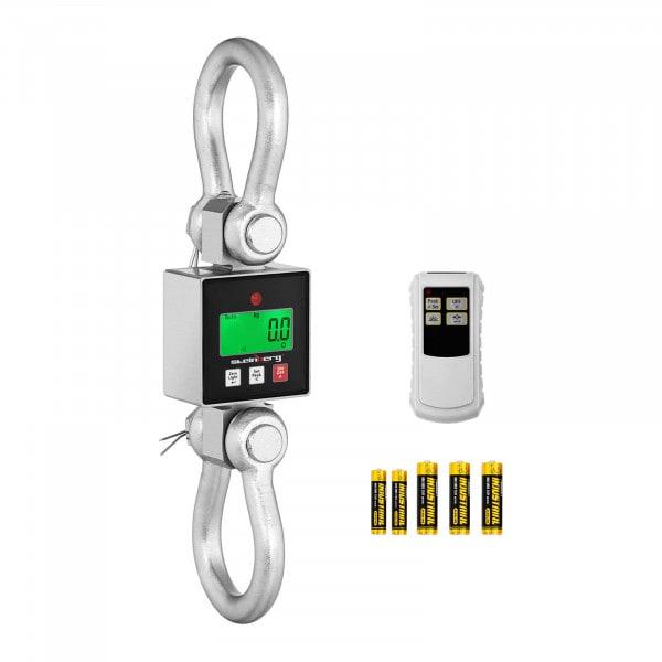 Balança digital de guindaste - 3000 kg - 0,5 kg lub 1 kg - LCD