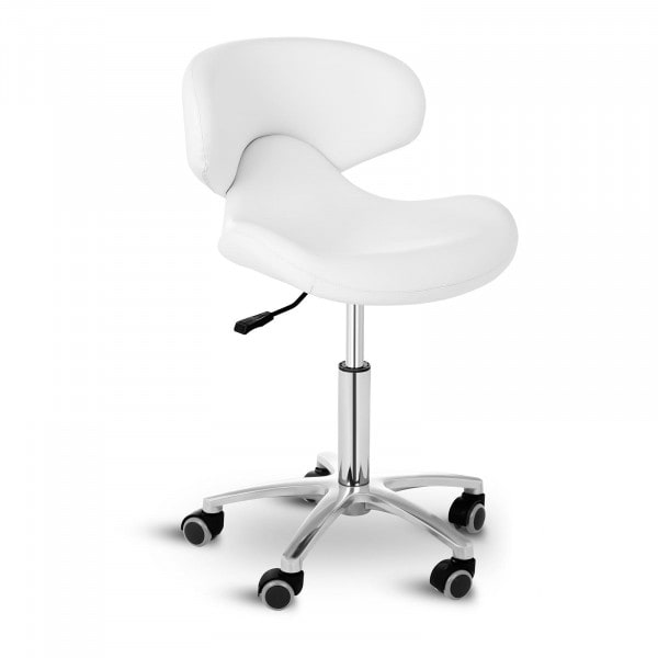 Stool Chair with Back ANDRIA WHITE
