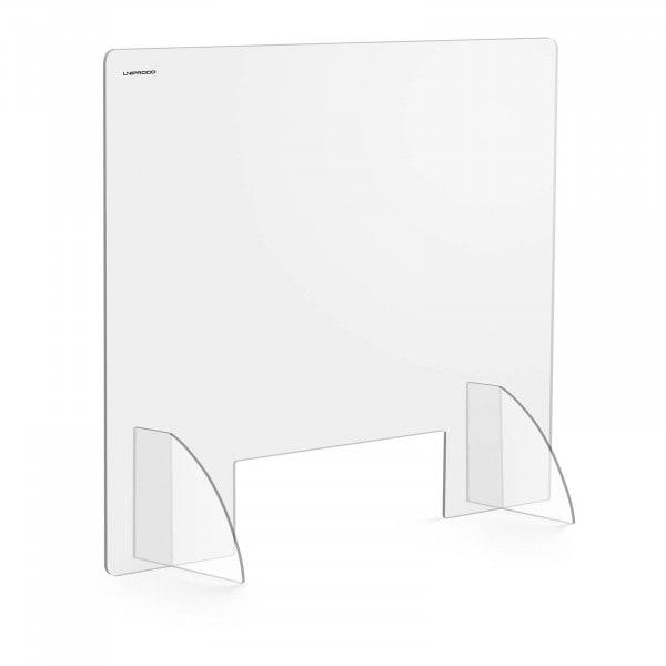 Tweedehands Hoestscherm - 95 x 80 cm - Acrylglas - doorlaat 30 x 10 cm