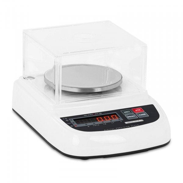 Waga laboratoryjna - 2000 g / 0,01 g - osłona - LED