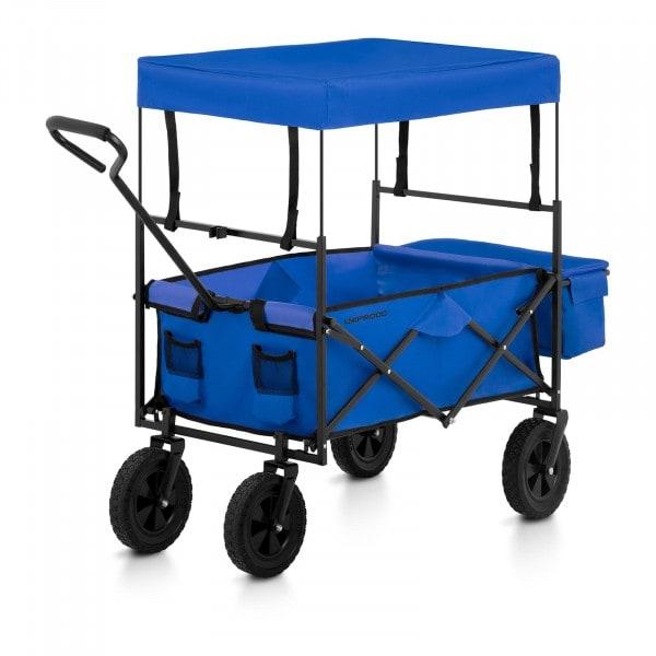 Bollerwagen faltbar mit Dach - Blau