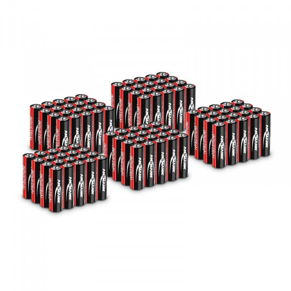 Sparset 100 x Mignon AA LR6 - Ansmann INDUSTRIAL Alkaline-Batterien - 1,5 V