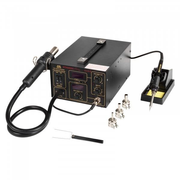 Gesamtansicht von Lötstation - 60 Watt - LED-Doppeldisplay mit Tragegriff – Basic