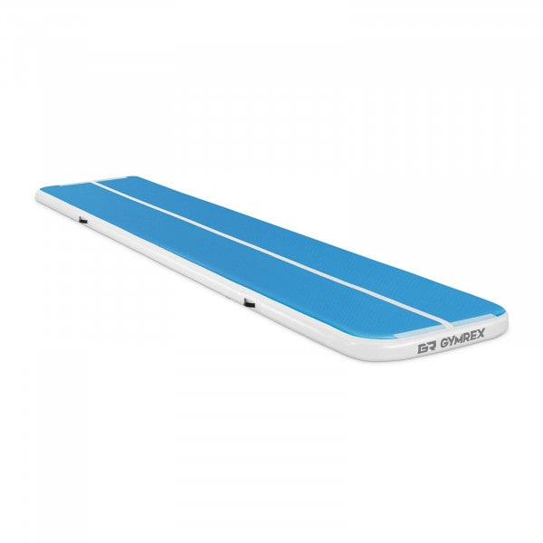 Nadmuchiwana mata gimnastyczna - 190 kg - 500 x 100 x 10 cm - niebieski / biały