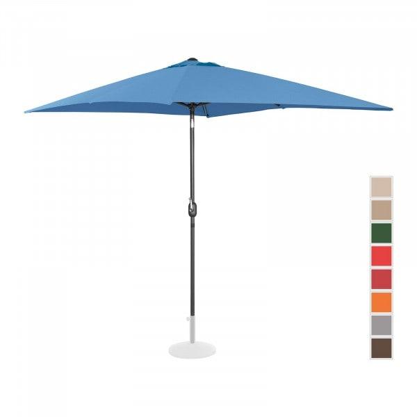 B-Ware Sonnenschirm groß - blau - rechteckig - 200 x 300 cm - neigbar