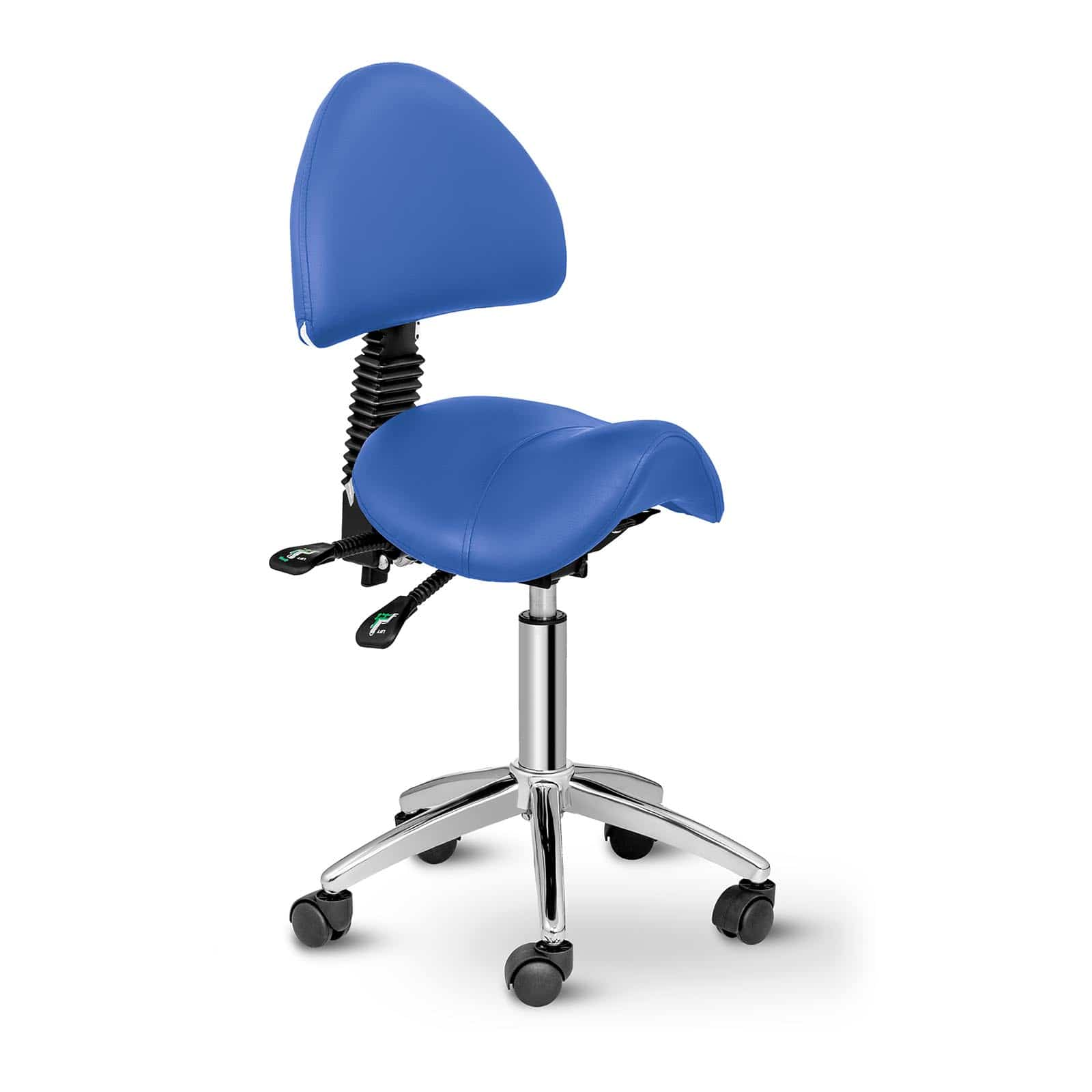 Krzesło siodłowe Berlin - niebieskie - oparcie