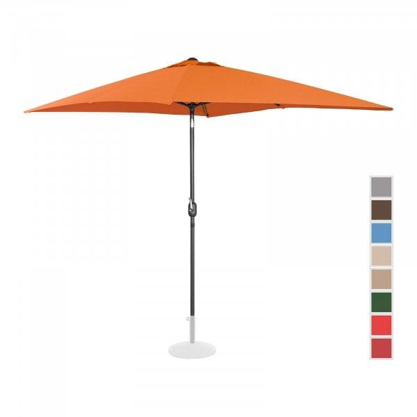 Large Outdoor Umbrella - orange - rectangular - 200 x 300 cm - tiltable