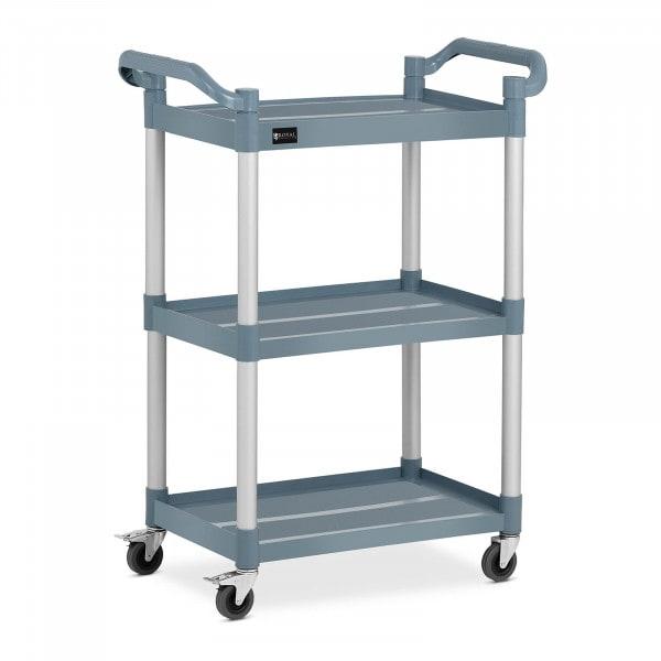 Wózek kelnerski - 3 półki - 90 kg - szary