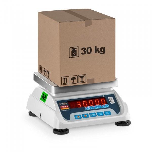 B-termék Asztali mérleg - hitelesített - 15 kg/ 5g - 30 kg/10 g - LED