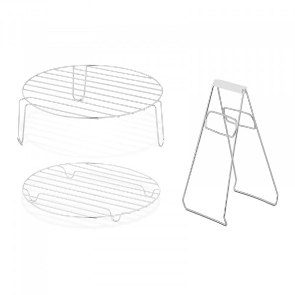 Set accessoires voor halogeenoven - hoog rooster - laag rooster - tang