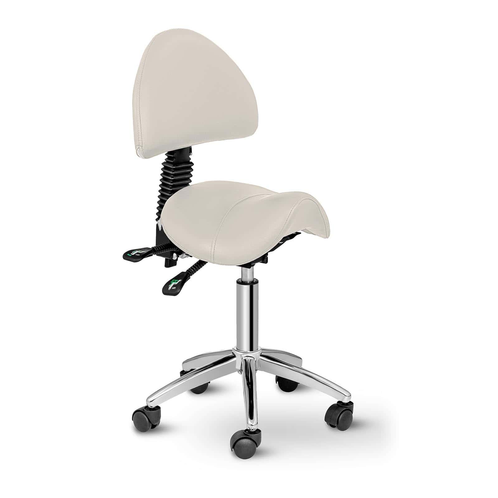 Krzesło siodłowe Berlin - beżowe - oparcie