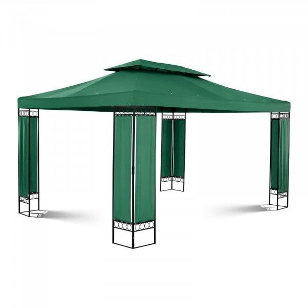Gartenpavillon - 3 x 4 m - 160 g/m² - dunkelgrün