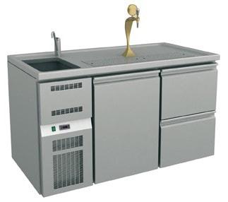 Ausschanktheke - 1565x700x900 mm - Umluftkühlung - 1 Tür für