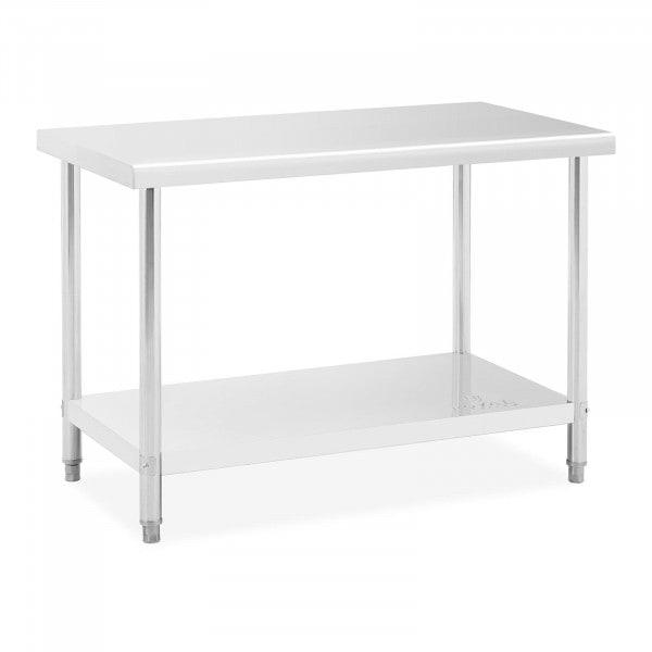 Mesa de trabalho de aço inoxidável - 120 x 60 cm - 110 kg