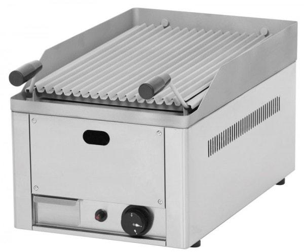 "Gas-Lavasteingrill - 330x540x220 mm - demontierbarer ""U""-förmiger Brenner"