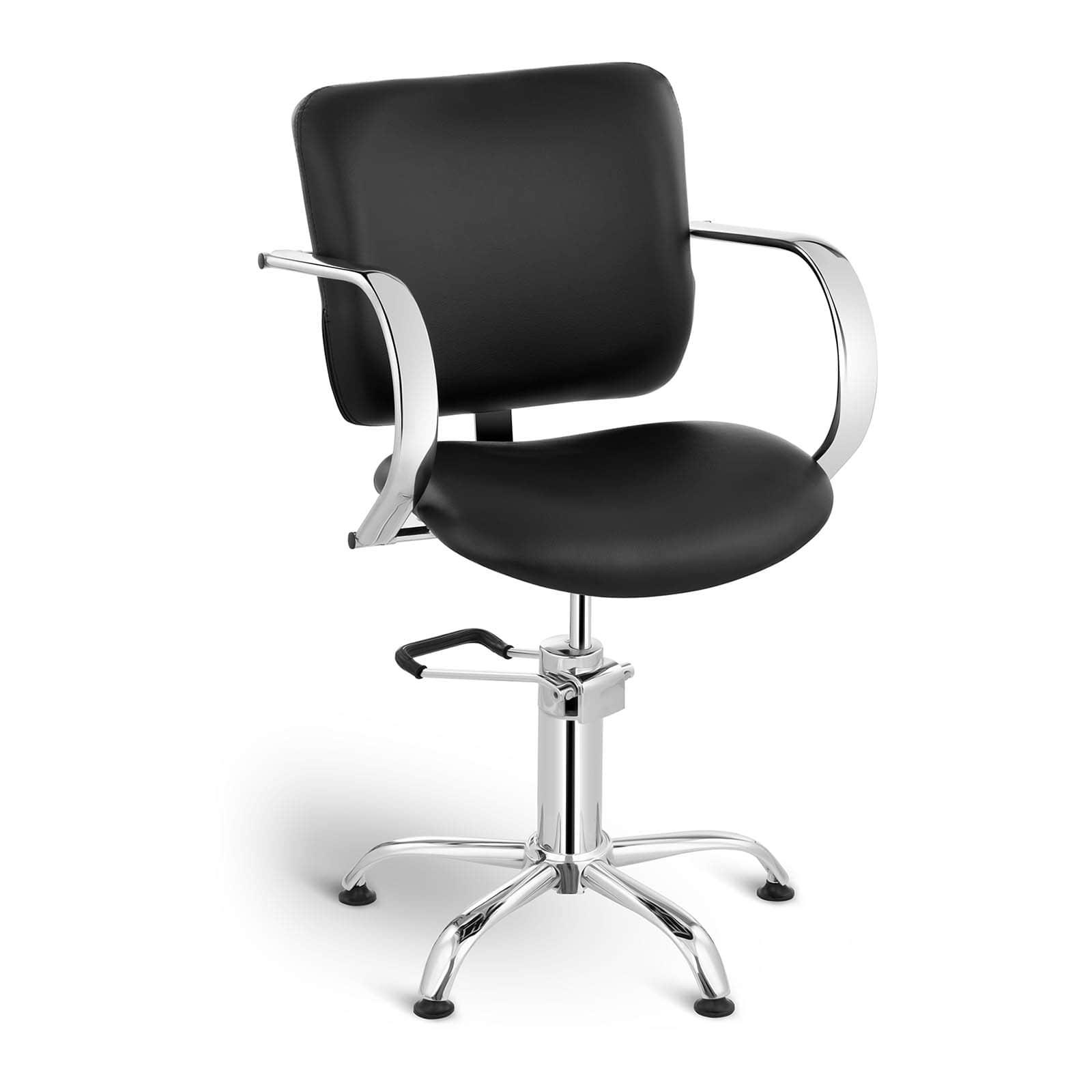 Fotel fryzjerski - czarny