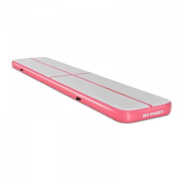 Nadmuchiwana mata gimnastyczna - 190 kg - 500 x 100 x 20 cm - różowy