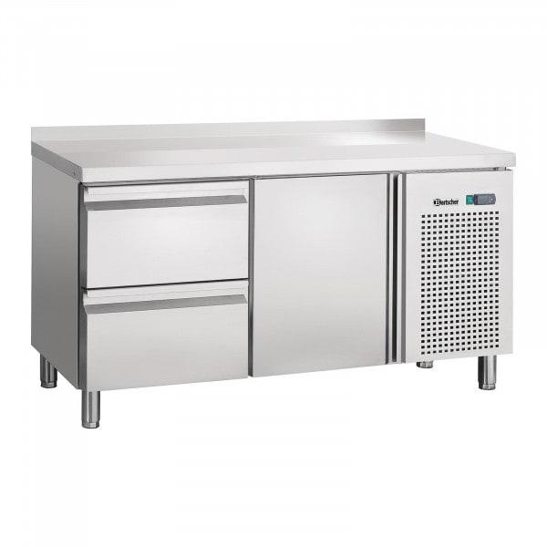 Bartscher chladicí stůl - cirkulace vzduchu - 1 dveře - 2 zásuvky s ohraničením