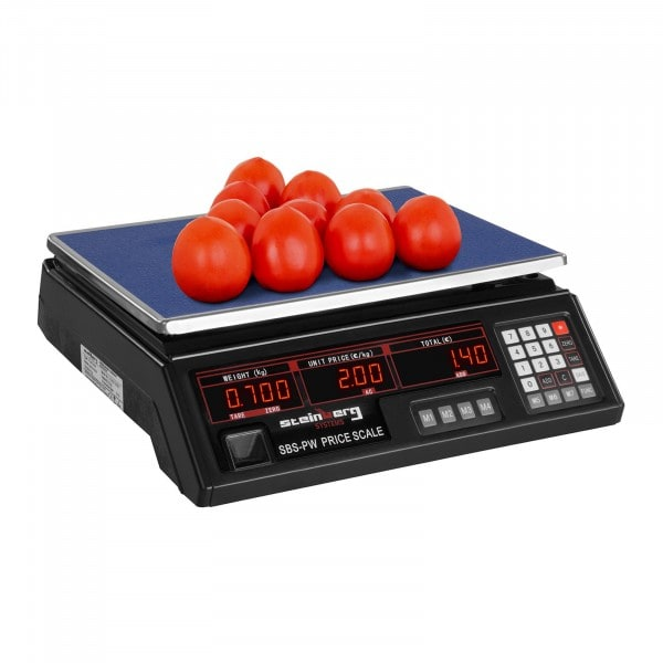 Balanza digital para control - 30 kg / 2 g - negro - LED