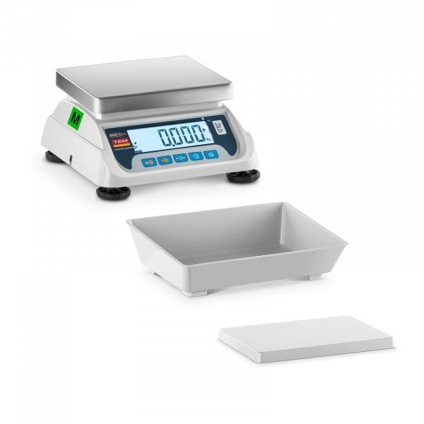 Bordvekt med vektskål - sertifisert - 3 kg /1 g - LCD
