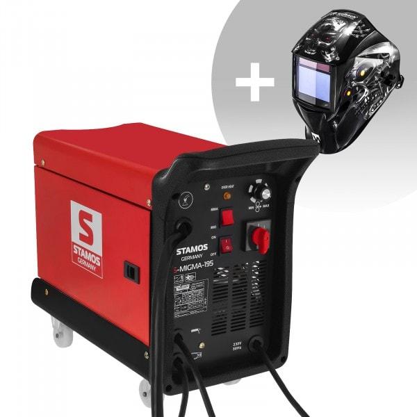 Schweißset Kombi-Schweißgerät - 195 A - 230 V - tragbar + Schweißhelm – Metalator