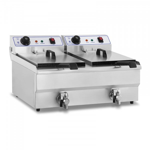 Electric Deep Fryer - 2 x 16 litres - 230 V