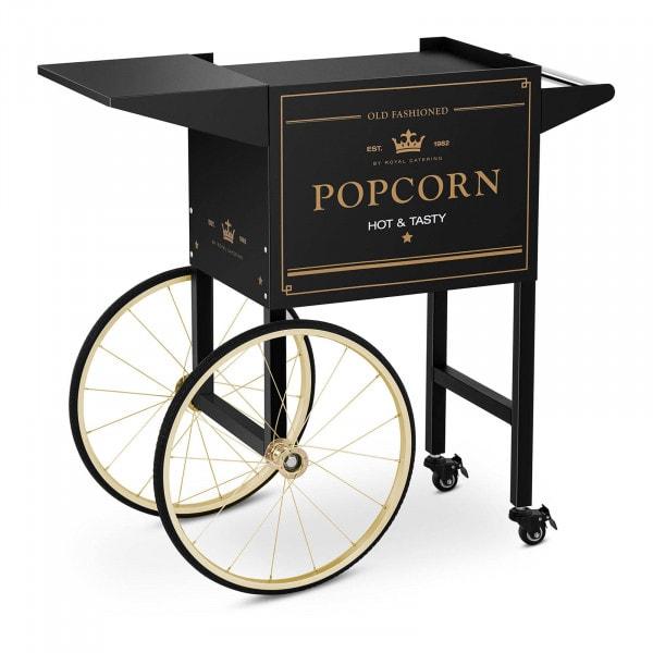 Popcorn-koneen kärry - musta-kulta