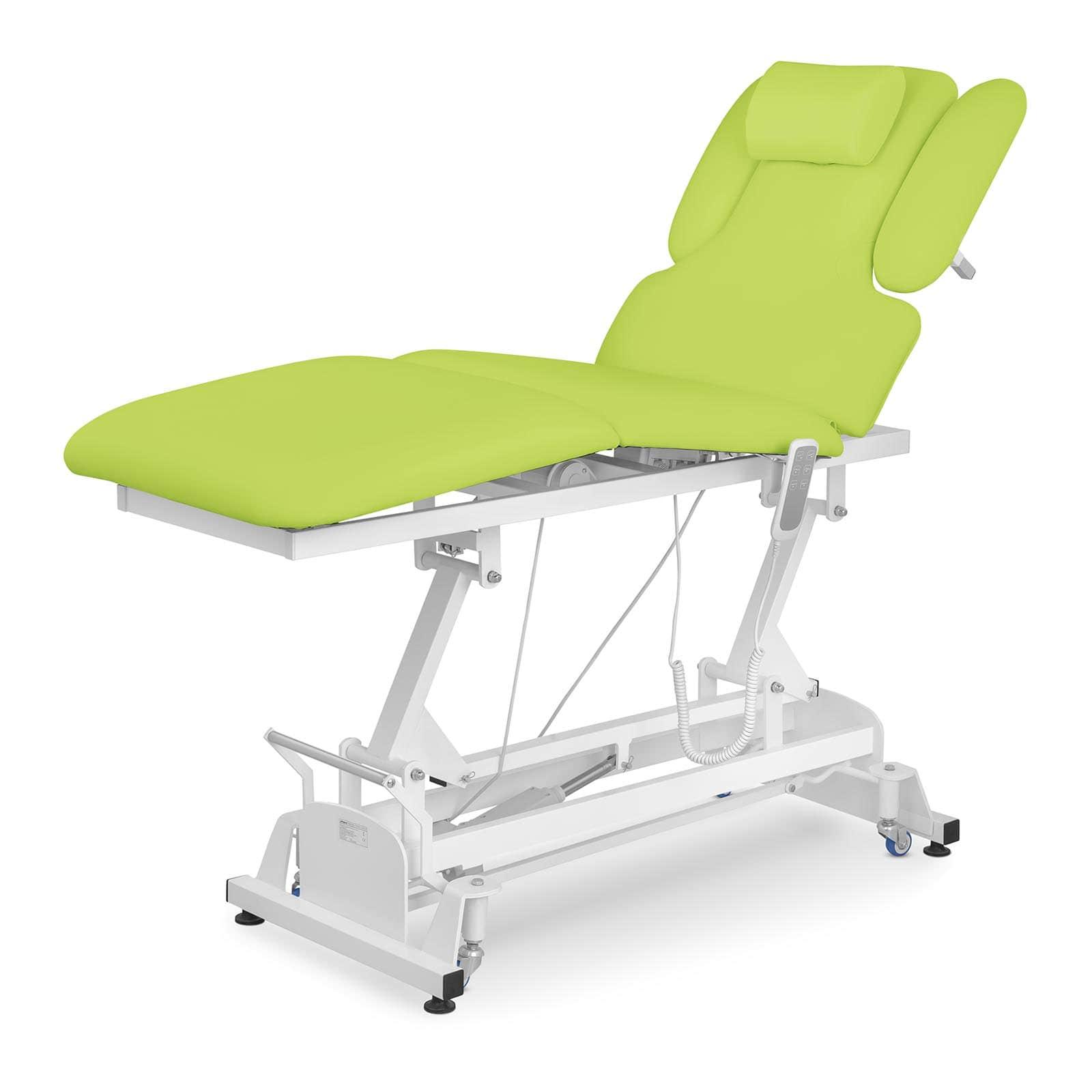 Jasnozielony stół do masażu Nantes - elektryczny