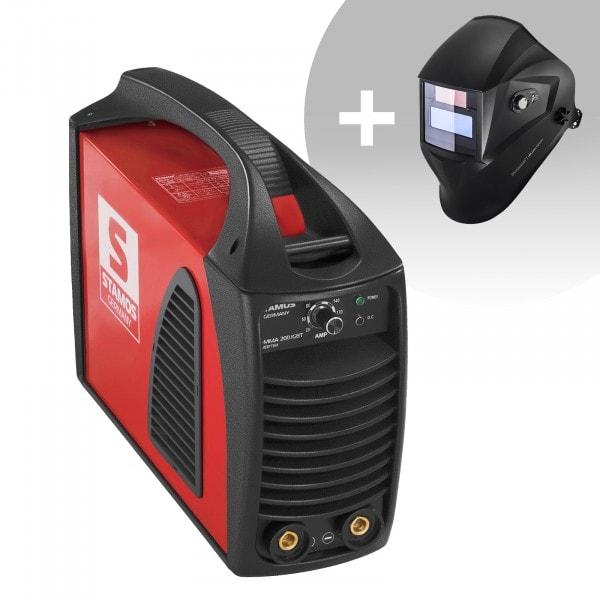 Hegesztő készlet MMA hegesztőgép - 200 A - Hot Start - IGBT + Hegesztő sisak - Operator - EASY SERIES