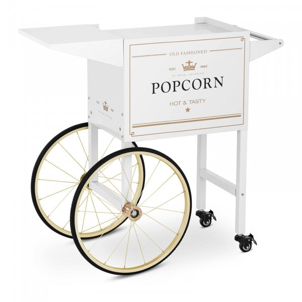 Popcorn Cart - white & gold