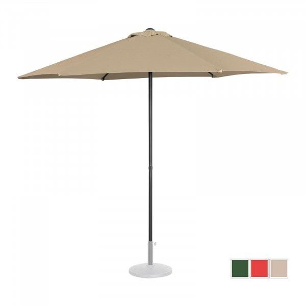 Sonnenschirm groß - taupe - sechseckig - Ø 270 cm