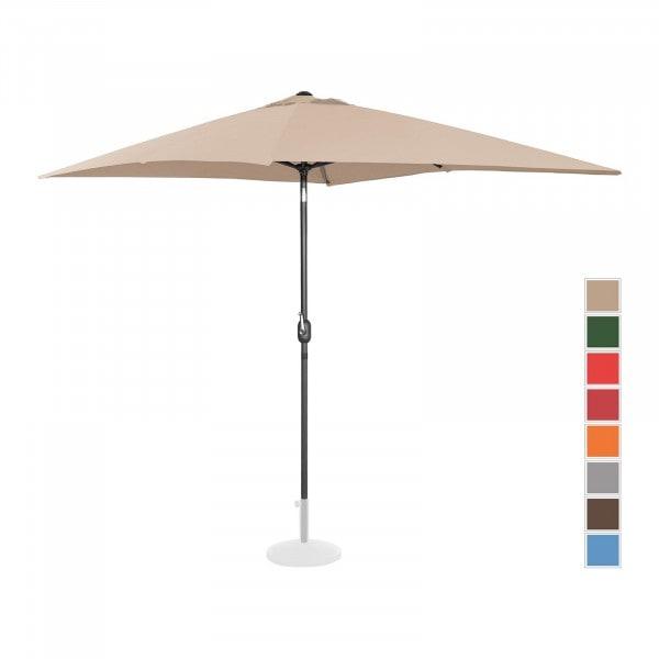 Sonnenschirm groß - creme - rechteckig - 200 x 300 cm - neigbar