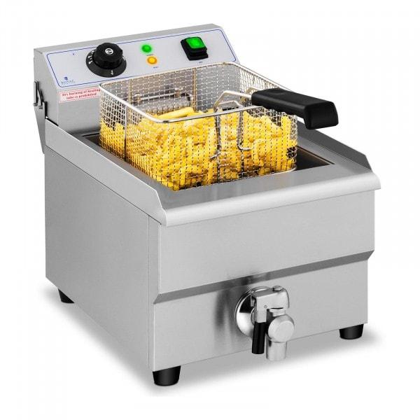 Friteuse électrique - 1 x 16 litres - Robinet de vidange - 230 V