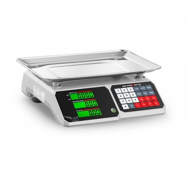 Brugt Butiksvægt - 30 kg / 1 g - 34,1 x 24,1 cm - LCD-display