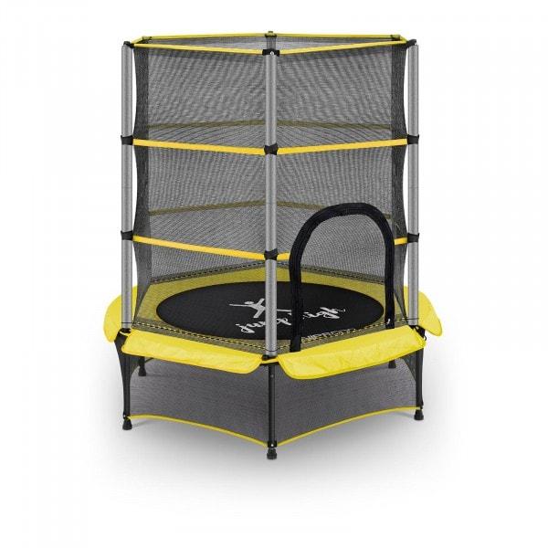 B-varer Trampoline for barn med sikkerhetsnett - 140 cm - 50 kg - gul