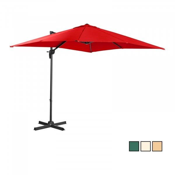 B-varer Hengeparasoll - Rød - 250 x 250 cm - Stål/Aluminium - Roterbar