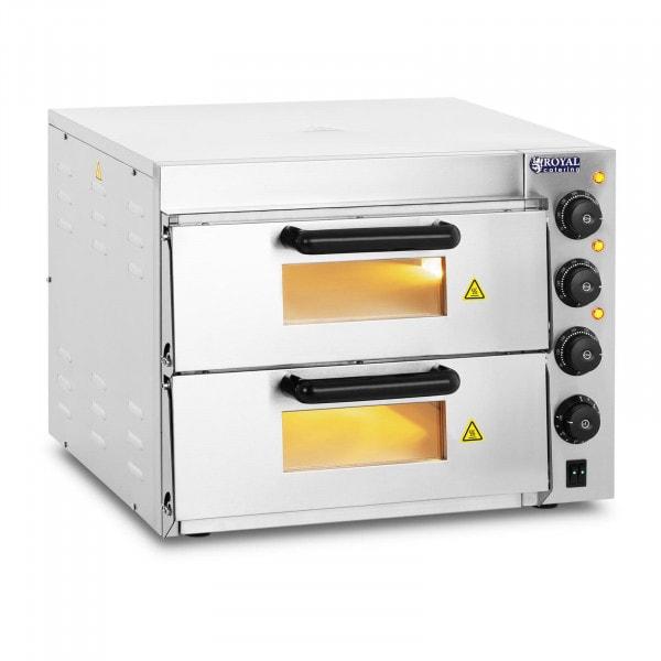 Pizzaovn - 2 kammer - ildfast steinbunn