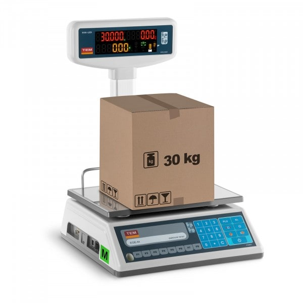 B-varer Electronic Weighing Scale with LED Display - 15 kg/ 5g - 30 kg/10 g