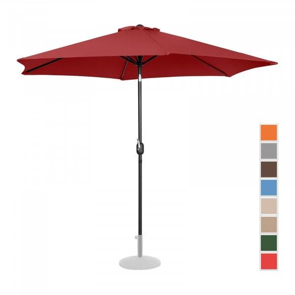 Grote parasol - bordeaux - zeshoekig - Ø 300 cm- kantelbaar