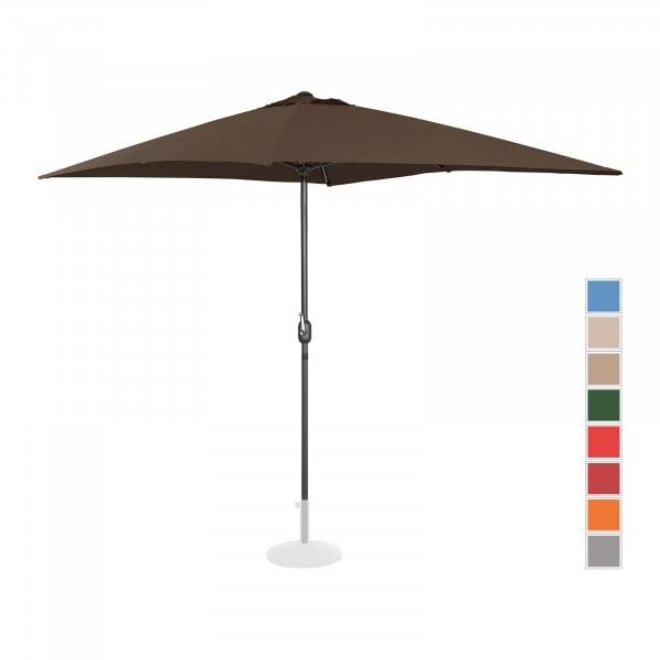 Stor parasoll - brun - rektangulær - 200 x 300 cm