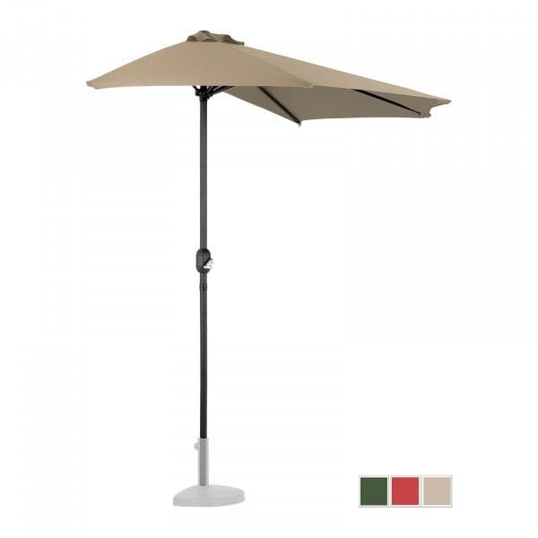 Halber Sonnenschirm - Taupe - fünfeckig - 270 x 135 cm