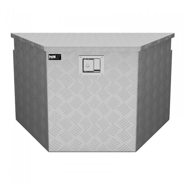 B-Ware Alubox Riffelblech - 82 x 48 x 46 cm - 150 L