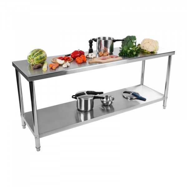 Factory seconds Stainless Steel Work Table - 200 x 60 cm