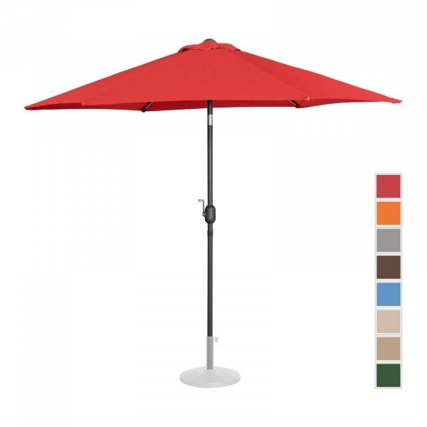 Large Outdoor Umbrella - red - hexagonal - Ø 270 cm - tiltable