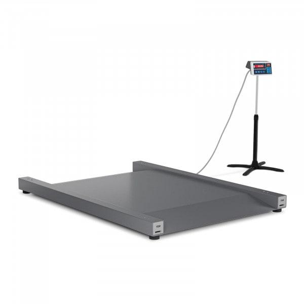 Podlahová váha - cejchovaná - 600 kg / 200 g - 100 x 90 cm - LED