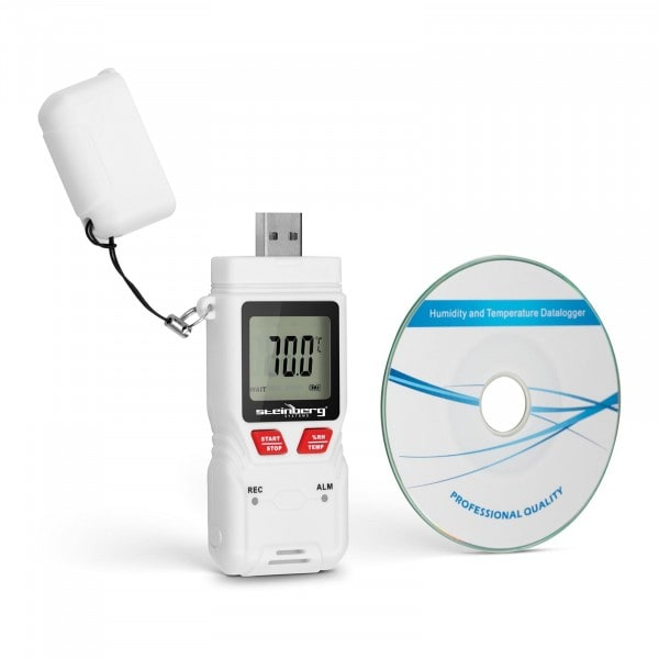 Temperature Humidity Data Logger - LCD - (-40) to +70 °C - 0 to 100% rH